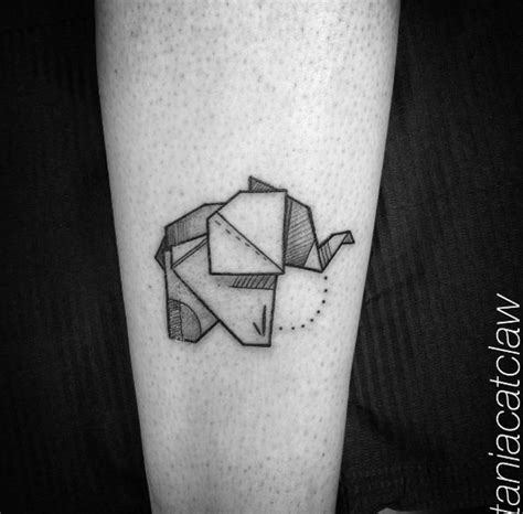 paper elephant tattoo 61 beautiful origami inspired tattoo designs tattooblend