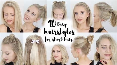 easy hairstyles  short hair youtube