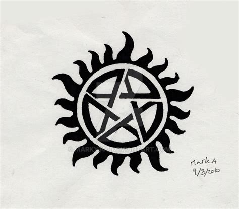 supernatural tattoo by marky306 on deviantart