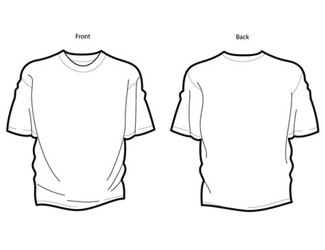 blank t shirt template front and back www imgkid com