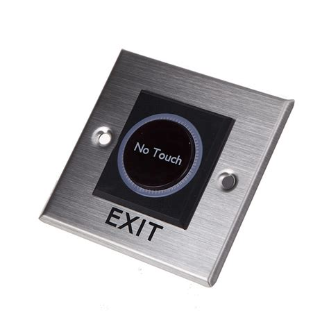 Push Button No Touch Sensor no touch sensor infrared exit button square with led solutions