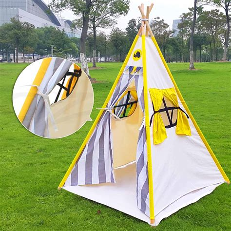 backyard teepee tent kids teepee tent children home canvas pretend play