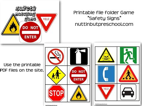 Safety Signs Worksheets by Printable Safety Signs For Block Area Nuttin But Preschool