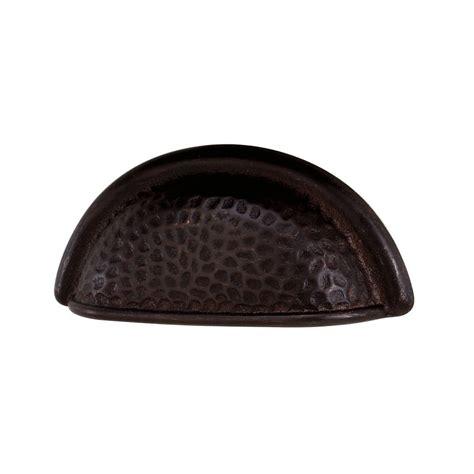 hammered bronze cabinet knobs alno creations shop a1429 dkbrz cup pull dark bronze