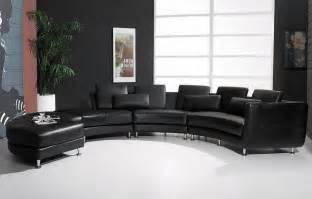 contemporary black sectional leather sofa modern