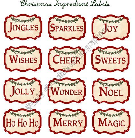 printable ingredient tags vintage christmas ingredient labels digital download collage