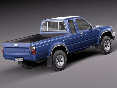 Toyota 1989 Models Toyota Hilux Extended Cab 1989 1997 3d Model Max