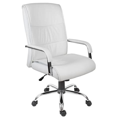 white leather office chair kendal executive chair white staples 174