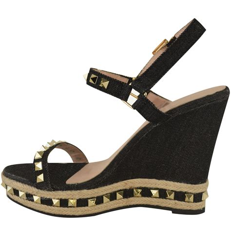 sandals for summer womens studded wedge sandals strappy platforms