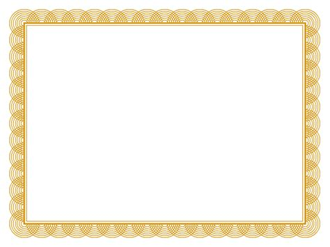 award certificate border template 5 best images of gold certificate border gold