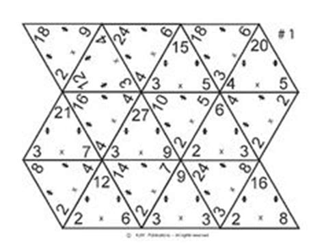 Triangle Multiplication Flash Card Template by 1000 Images About Multiplication And Division On