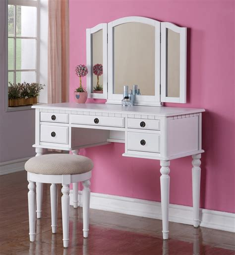Bedroom Vanity by Makeup Vanity Table With Mirror Designwalls