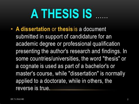dissertation or thesis planning a thesis by students