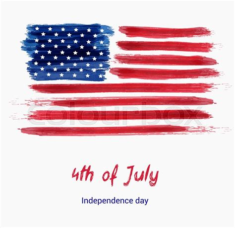 4th Of July Greeting Card Templates by Usa Independence Day Background Happy 4th Of July Vector