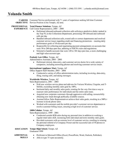 traffic customer resume exles customer service resume