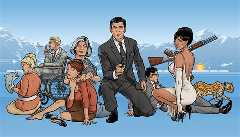 archer spy cartoon tv show promotional images created for the third season premi 232 re