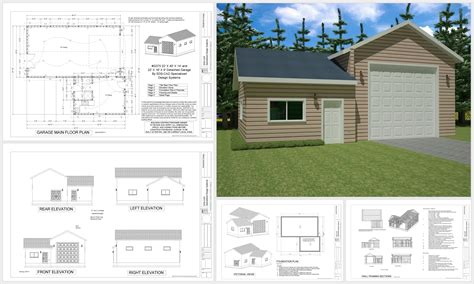Apartment Plans With Garage by G375 Garage With Apartment Sds Plans