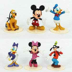pcs mickey mouse clubhouse minnie goofy figures playsets pvc toys cake topper ebay