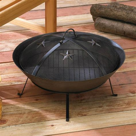 Cast Iron Fire Pit Outdoor Patio Deck Fireplace Backyard Cast Iron Firepit