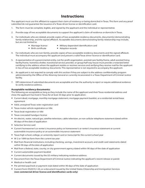 Proof Of Residency Letter Massachusetts Sle Residency Affidavit Free