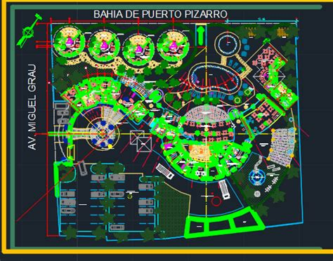 hotel layout plan autocad file beach resort with restaurant 2d dwg design plan for