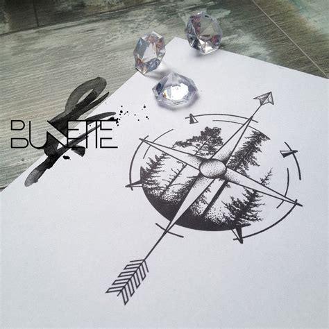 compass tattoo under breast arrow and compass tattoo design