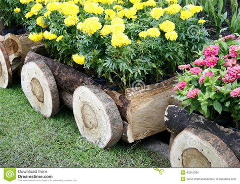 Pictures Of Planters by Flowers In Pots In Wooden Box Stock Photo Image 43515084