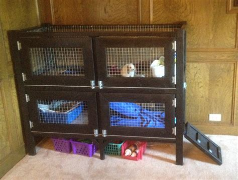 How To Make A Bunny Hutch white two story rabbit hutch diy projects