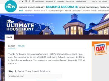 House Giveaway Sweepstakes - hgtv com s ultimate house hunt giveaway sweepstakes