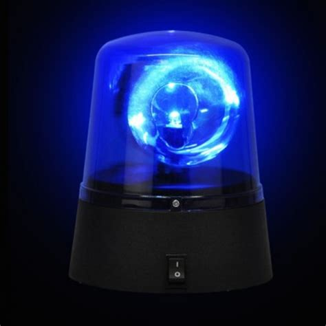 big disco light blue warning light