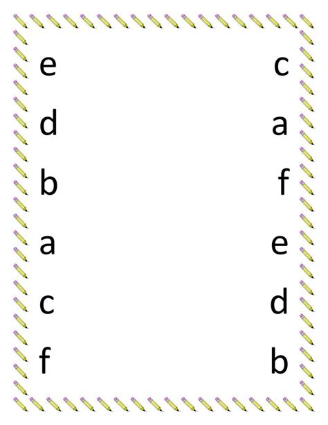 alphabet letters to print printable matching letters worksheets kindergarten 1073
