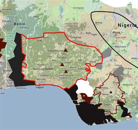 yoruba africa map yoruba in africa the of iowa