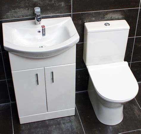 550mm vanity unit toilet option cloakroom set basin sink