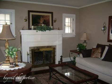 behr studio taupe had painted both rooms a darker taupe color at the advice of a