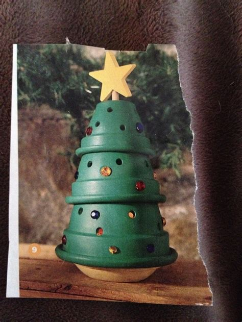 flower pot christmas tree clay pots pinterest