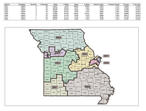 missouri district map senate version of redistricting map cuts congressman from