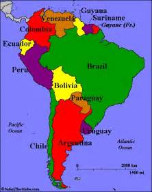 map of south america countries south america countries capitals map