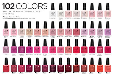 vinylux color chart cnd nail color chart hession hairdressing