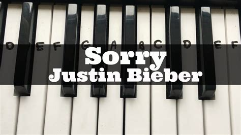 tutorial in keyboard sorry justin bieber easy keyboard tutorial with notes