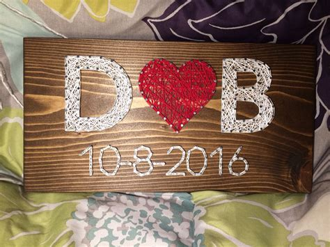 Wedding/Anniversary String Art Sign, Date Art, Wall decor