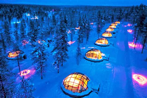Kakakslauttanen Artic Resort Mba Student Survey by Thermal Glass Igloos Offer Views Of The Northern Lights At
