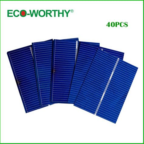 diy solar panel kits for home eco worthy 40pcs 52x39 solar photovoltaic cells kits diy solar panel for home application system