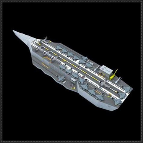 Origami Aircraft Carrier - cvn concept future stealth carrier free paper model