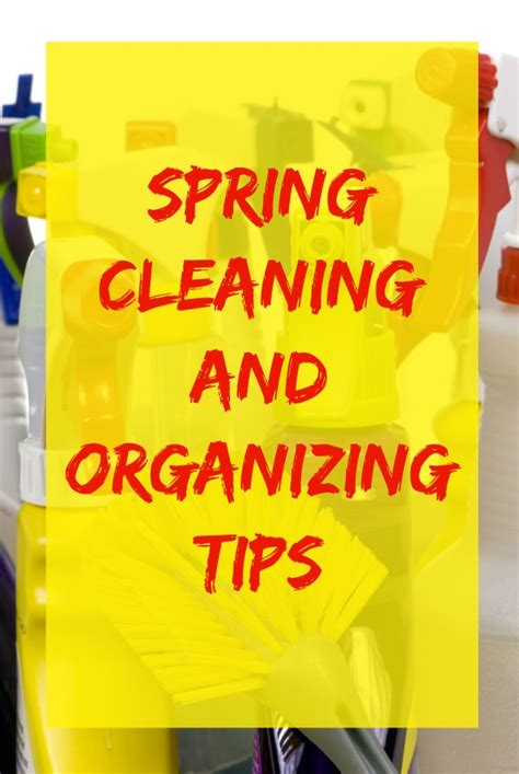 cleaning and organizing tips p williams