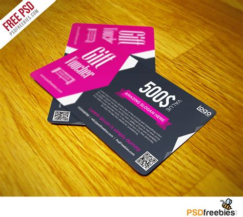 gift card templates psd gift voucher coupon free psd template psdfreebies