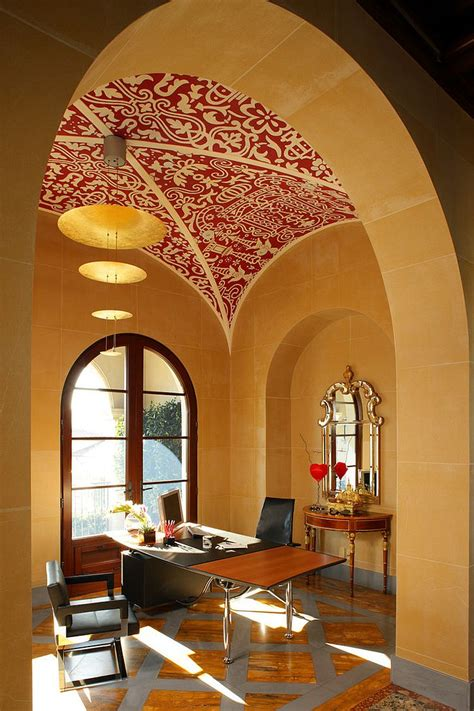 stencil home decor 20 home offices that turn to red for energy and excitement