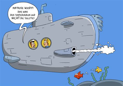 cartoon u boat uboot toilette von christianp forschung technik