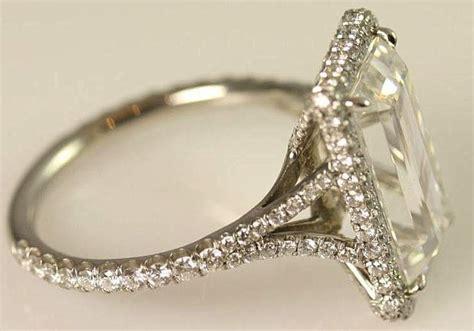 5 carat emerald cut engagement ring onewed
