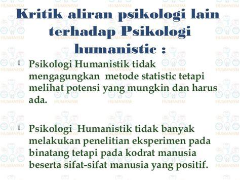 Mazhab Ketiga Psikologi Humanistik psikologi umum