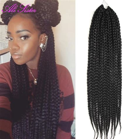 box braids with havana hair 22 quot long box braids hair crochet hair extensions havana